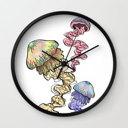 triplets in color Wall Clock