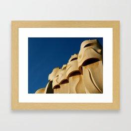 Gaudi (Barcelona, Spain) Framed Art Print