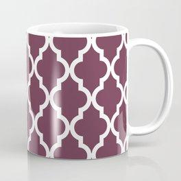 Moroccan Quatrefoil Pattern: Burgundy Coffee Mug