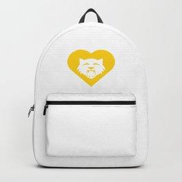 Wildcat Mascot Cares Yellow Backpack