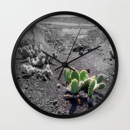 Green Cactus Wall Clock