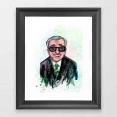 Martin Scorsese Framed Art Print