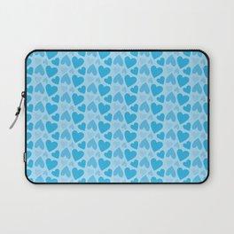 Blue Hearts Pattern Laptop Sleeve