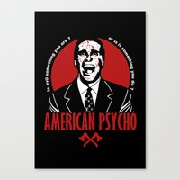 american psycho Canvas Prints featuring American Psycho by Buby87