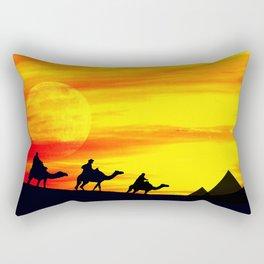 Egyptian supermoon Rectangular Pillow