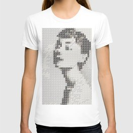 Hedgehog geometric pattern portrait of Audrey Hepburn 03 T-shirt