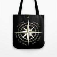 tolkien Tote Bags featuring Not all those who wander are lost - J.R.R Tolkien - 2 by Augustinet