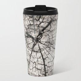 circles in the wood grain Metal Travel Mug