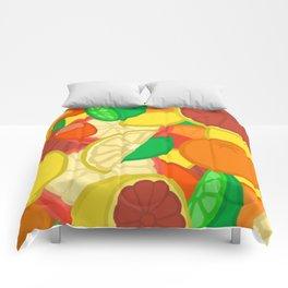 Cute Fruits! Comforters