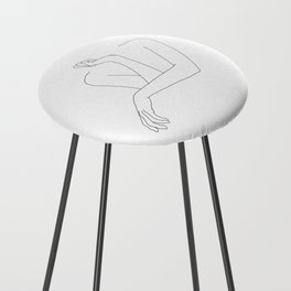 Minimal line drawing of woman's folded arms - Anna Counter Stool