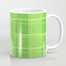 Delicate strokes of intersecting green cells with jagged stripes and lines. Coffee Mug