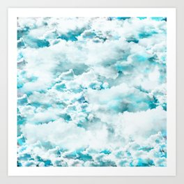 Clouds in the sky Art Print