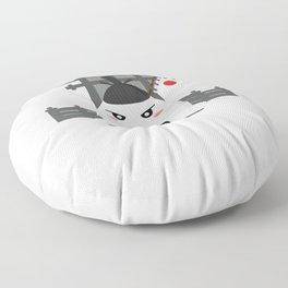 Angry Onigiri - Kawaii Japanese Food T-Shirt Floor Pillow