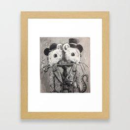 Gentlemen mice Framed Art Print