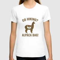 hiking T-shirts featuring Go Hiking? Alpaca Bag! by AmazingVision