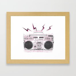 Boom Zap Box Framed Art Print