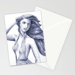 windy girl Stationery Cards