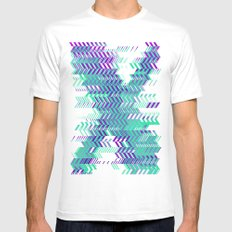 Electro Ex MEDIUM Mens Fitted Tee White