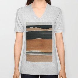 abstract minimal 12 Unisex V-Neck