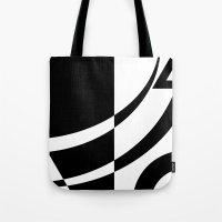tim burton Tote Bags featuring Burton by Pixiepot Designs