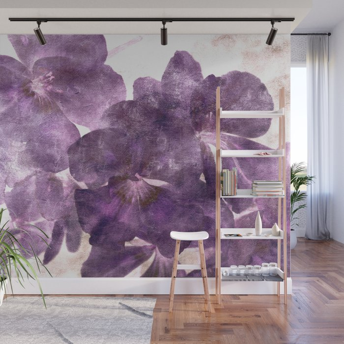 Purple Blossoming Wall Mural