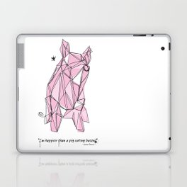 """""""I'm happier than a pig eating bacon!"""" - Lemony Snicket - Laptop & iPad Skin"""