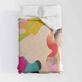 abstract bright color modern art Comforters