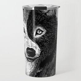 Ying Yang Wolf Travel Mug