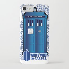 Doctor Who: Who's Who, the tardis.  iPhone Case
