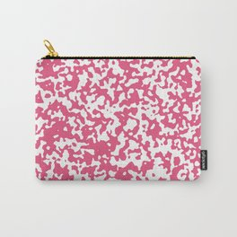 Small Spots - White and Dark Pink Carry-All Pouch