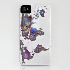 Stars world map Slim Case iPhone (4, 4s)