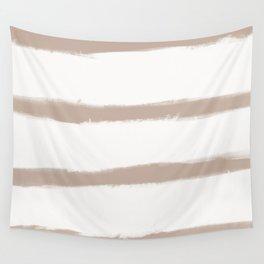 Medium Brush Strokes Horizontal  Nude on Off White Wall Tapestry