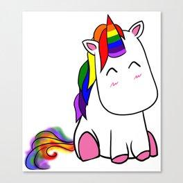 Lenny the Unicorn Canvas Print