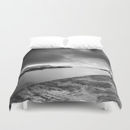 Dunseveric Harbour,Fair head,Ireland,Northern Ireland Duvet Cover