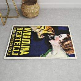 Vintage Avoriolina Bertelli Tiger Advertisement Wall Art Rug