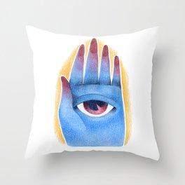 God's hand Throw Pillow