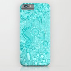 millions aqua iPhone 6 Slim Case
