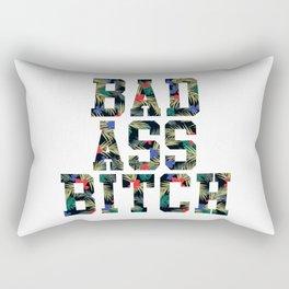 BAD A$$ B!TCH (floral) Rectangular Pillow