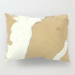 "Egon Schiele ""Female Nude with White Border"" Pillow Sham"