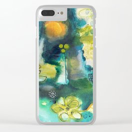 Cracks III - Where the light gets in Clear iPhone Case