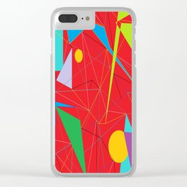 Euclid's Spider Webs Clear iPhone Case