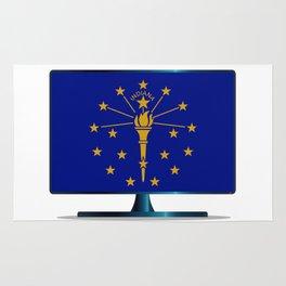 Indiana Flag TV Rug