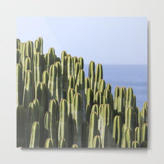 Ocean Cactus Metal Print