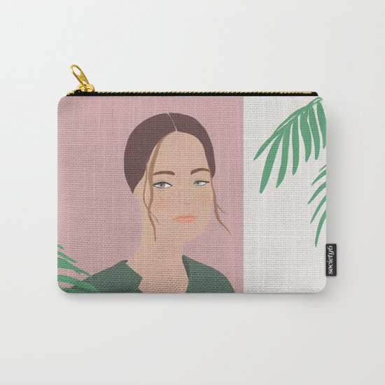 Summer Breeze, girly, fashion illustration, illustration, aloha, summer, tropical, hawaiian art Carry-All Pouch