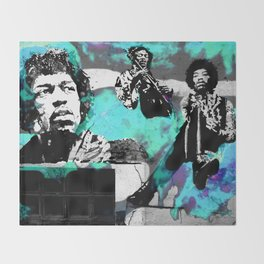 JIMI - 3 portraits Throw Blanket