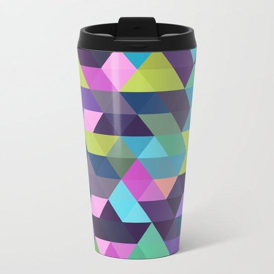 Colorful Geometric Background III Metal Travel Mug