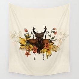 Blooming Beetle Wall Tapestry