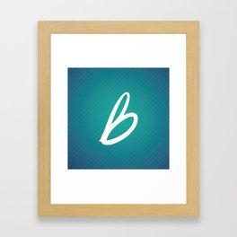 Les Recettes du bonheur texture Framed Art Print