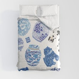 Chinoiserie Curiosity Cabinet Toss 2 Comforters