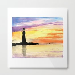 A Light in the Dark Metal Print